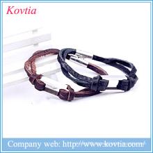 China Großhandel Armband Joker Leder Armband Jungen 316 Titan Stahl magnetischen Armband