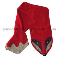 Moda handmade acrílico malha crochet cachecóis, cachecol