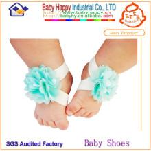 Top-Großhandel bunte einfache Spitze Baby Schuhe Ornament