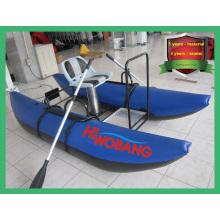 Barco de pontão inflável de forma única para pesca e esportes