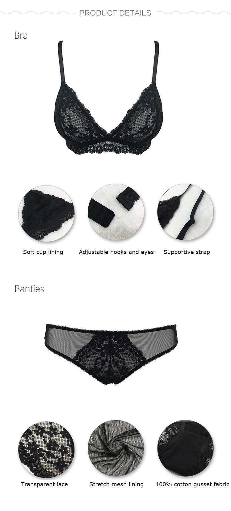 Women bra and panty set-product detail