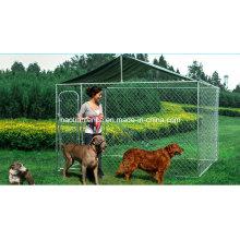 Chain Link Outdoor Dog Kennel com telhado para venda por atacado