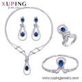 set-59 xuping costume jewelry, China wholesale Rhodium plated luxury set