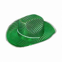 Cowboy hat with sequin decoration, suitable for party
