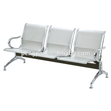 silver brush frame three seater airport chair