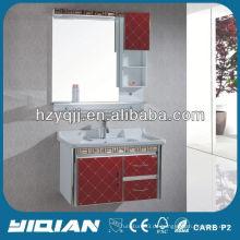 Red New Design Wandmontierte PVC Badezimmer Schrank Badezimmer Waschtisch