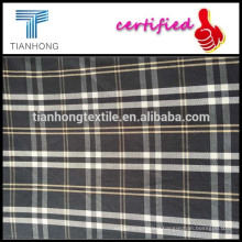 Black plaid yarn-dyed fabric/Twill shirt yarn-dyed fabric/cotton plaid shirt fabric