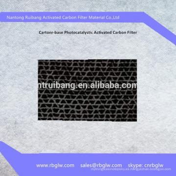 Filtro de papel de carbón activado