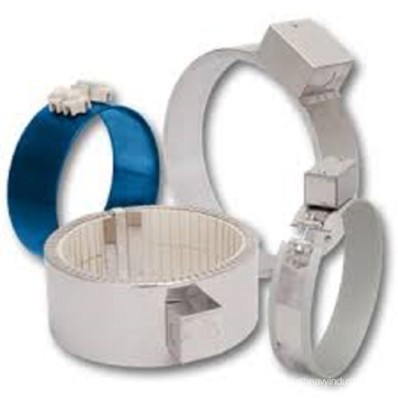 Ceramic heating ring for plastic recycling machine