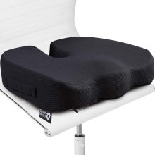 Seat Cushion Pillow for Office Chair - 100% Memory Foam Firm Coccyx Pad - Tailbone, Sciatica, Lower Back Pain Relief - Contoured Posture Corrector for Car