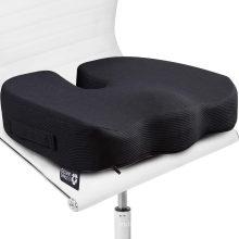 Подушка сиденья для офисного стула - 100% пена с эффектом памяти, твердая копчиковая подушечка - копчик, радикулит, облегчение боли в пояснице - контурный корректор осанки для автомобиля