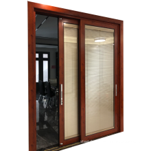 Aluminium profile for onitek aluminium sliding glass door electric control blinds sliding glass door with blinds