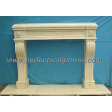 Cheminée pour maçonnerie en marbre en pierre (QY-LS155)