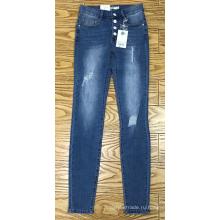 женские узкие джинсовые брюки