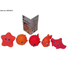 Brinquedos macios do PVC do brinquedo do banho do pulverizador de água para miúdos