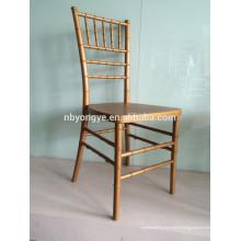 Chaise tiffany en résine or en acier PP