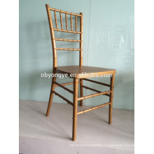 Cixi yongye factory PP steel stacking colorful resin chiavari chair