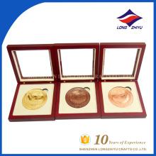 Moneda de recuerdo personalizada de alta calidad con cajas