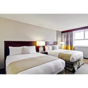 Hotel Double Bed Wooden Home Bedroom Furniture