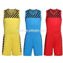 alta qualidade em branco preço barato basquete jersey / basquete uniforme kit