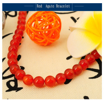 Natural Red Agate Bracelet