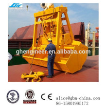 25t 6 12CBM clamshell grab bucket for deck crane with remote control