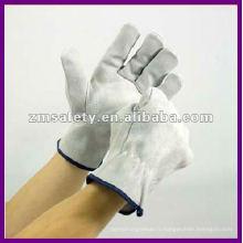 Gants en cuir de sécurité split cow / gants de conducteur ZMR209