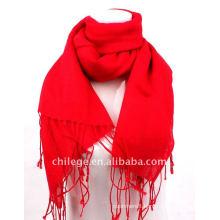 Woman fashion scarfs shawl red plain pashmina