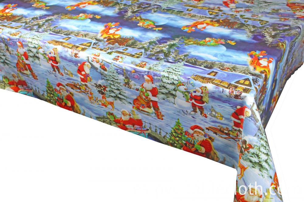 Christmas plastic tablecloth with backing