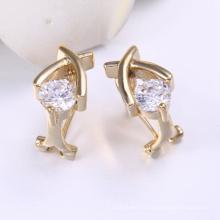 Boucle d'oreille de bijoux en or saoudien avec plaqué or 14 carats
