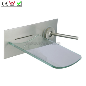 Grifo de bañera de pared de cascada de vidrio (QH0500W)