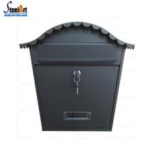 An der Wand befestigter Briefkasten mit Hauptschlüssel dekorativen Designmetallbriefkasten