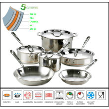 5 Ply Copper Core Induction Cookware Set