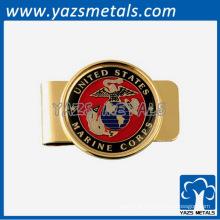 Clip de dinheiro personalizado, clipes de dinheiro de ouro