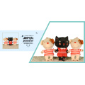 Cute cat and dog plush toys