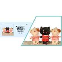 Bonitinho gato e cachorro brinquedos de pelúcia