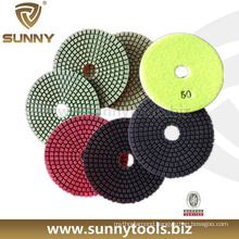 Professional Dry and Wet Diamond Granite Angle Grinder Polishing Pads