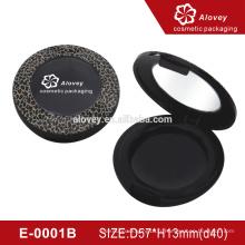 E-0001B Emballage cosmétique de luxe en forme de ombre à paupières de luxe noir