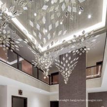 American style custom office hall acrylic crystal chandelier