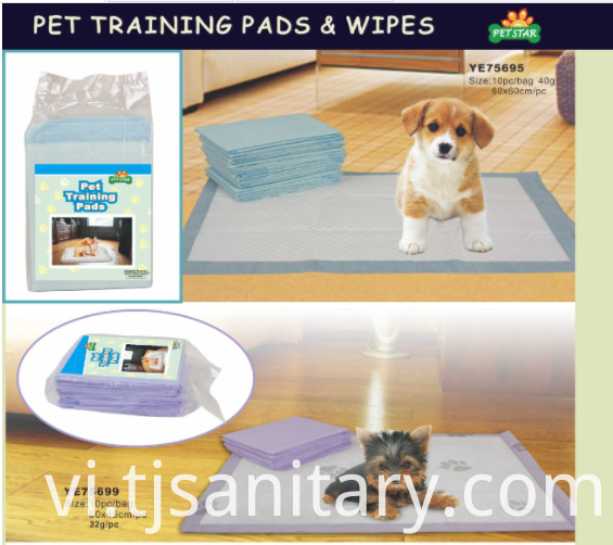 blue color puppy pad