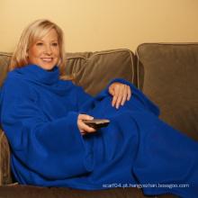 Manta de lã com mangas snuggie TV