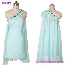 Clothing Manufacture One Shoulder Evening Dress Short Evening Dress Wholesale