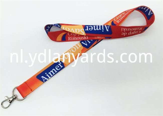 Dye sbulimation lanyards