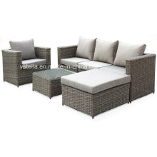 4-Piece Outdoor Rattan Wicker Sofa Sectional Patio Furniture Set