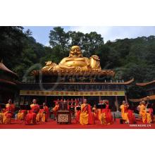 décoration extérieure bouddhisme grand métal antique bronze maitreya bouddha