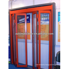 Deper automatic bi-folding door