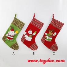 Red Soft Animal Christmas Stocking
