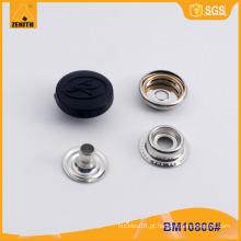 Nylon Cap Metal latão Snap botão para jaqueta BM10806
