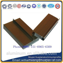 nepal market windows aluminium profile of anodized black and anodized bronze
