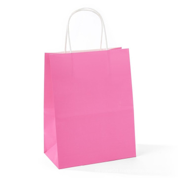Pink Carton Or Customize Packages Sticker Printing Promotion Gift Shopping Paper Bag